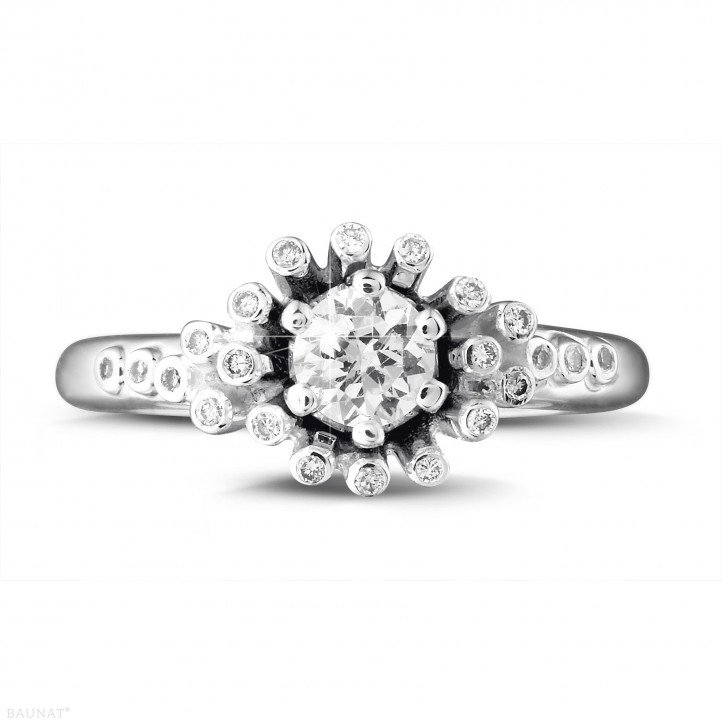0.50 carat diamond design ring in white gold