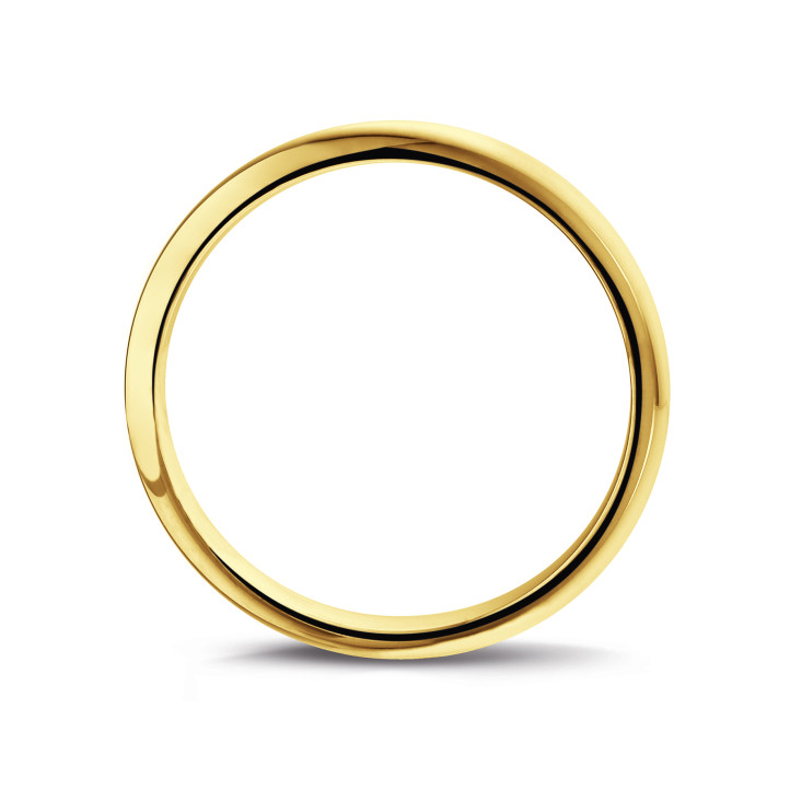 Men's ring with a domed surface of 3.00 mm in yellow gold