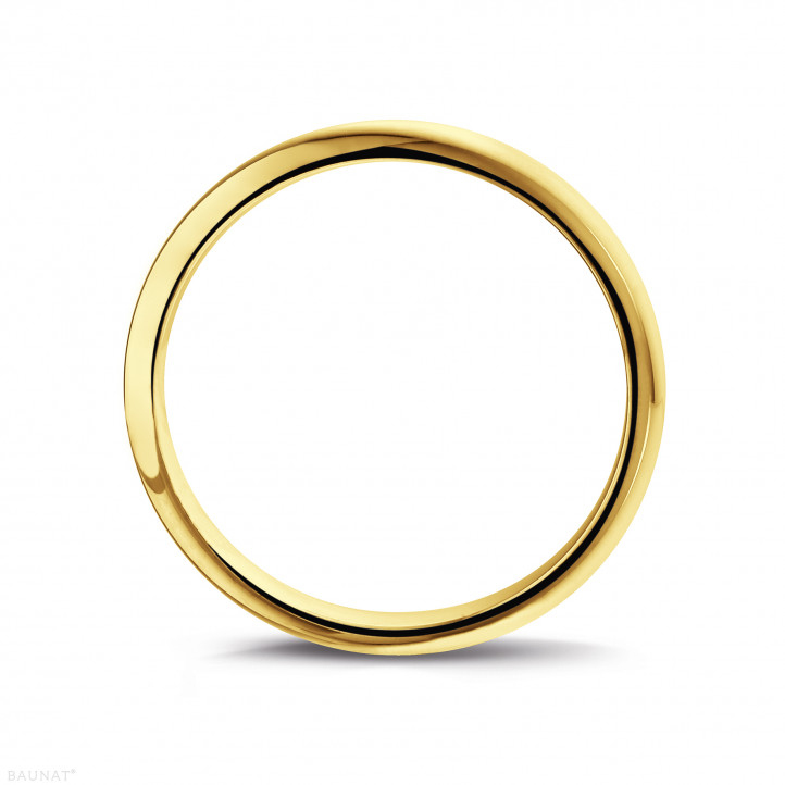 Men's ring with a domed surface of 5.00 mm in yellow gold
