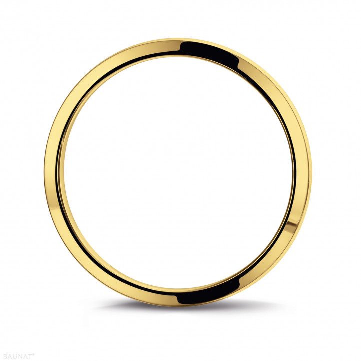 Men's ring with a slightly domed surface of 5.00 mm in yellow gold