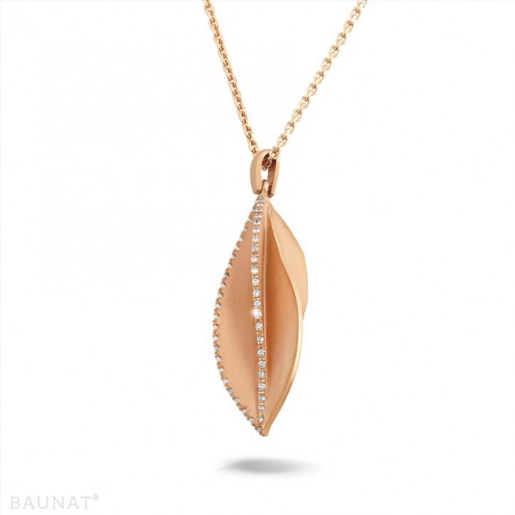 0.40 carat diamond design pendant in red gold