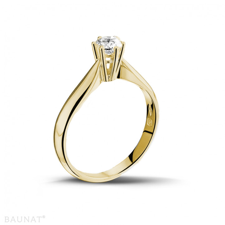 0.30 carat solitaire diamond ring in yellow gold