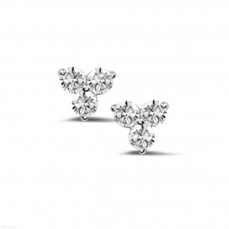 0.60 carat diamond trilogy earrings in white gold