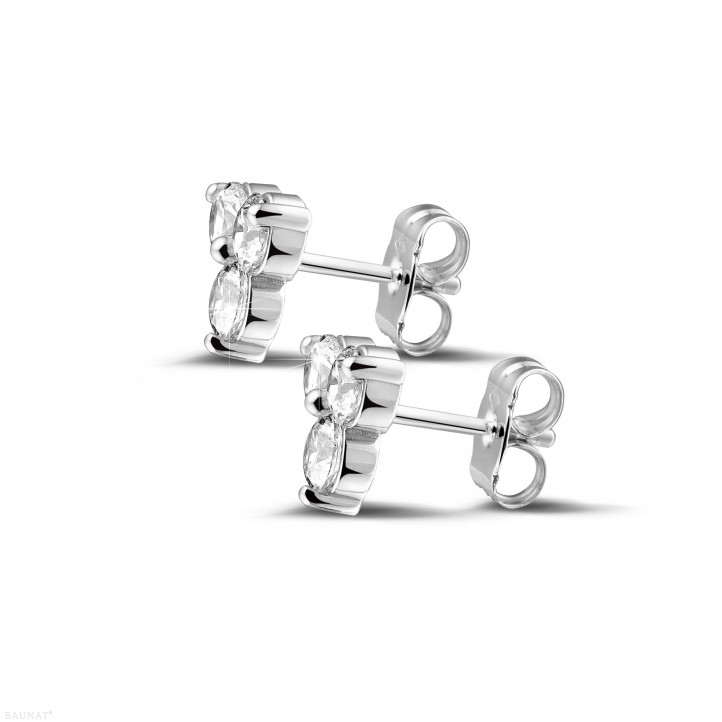 1.20 carat diamond trilogy earrings in white gold