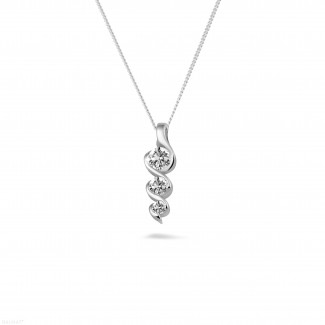 0.38 carat trilogy diamond pendant in white gold
