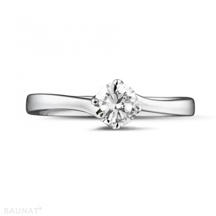 0.50 carat solitaire diamond ring in platinum
