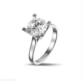 - 2.50 carat solitaire diamond ring in platinum