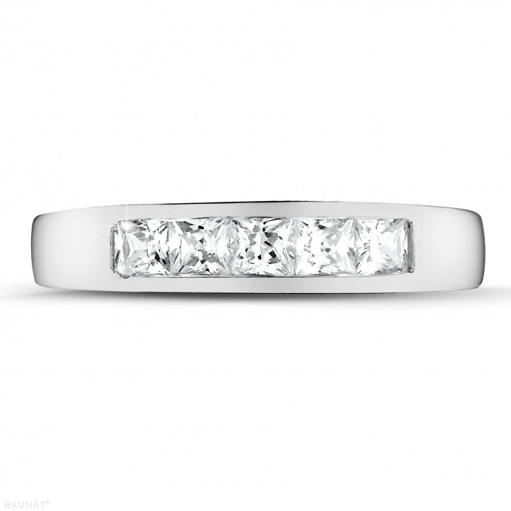 0.75 carat platinum eternity ring with princess diamonds