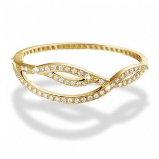 Pulseras - 2.43 quilates pulsera diamante diseño en oro amarillo