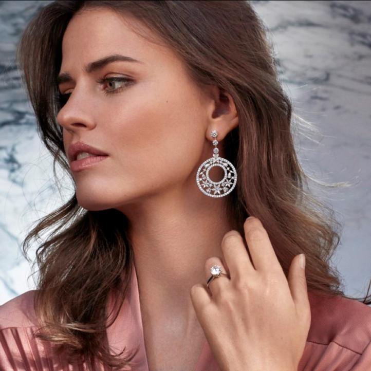 1.50 quilates anillo solitario diamante en platino