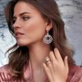 0.30 quilates anillo solitario diamante en oro rosa
