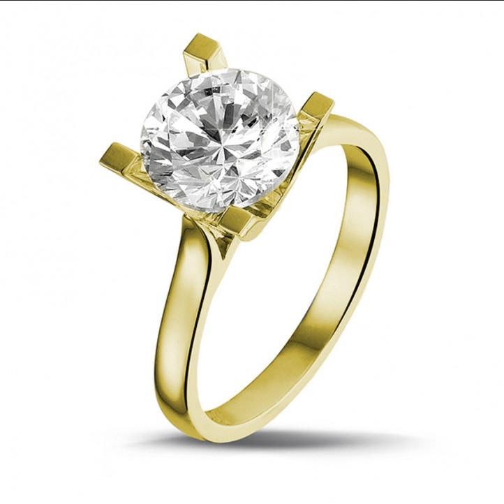 2.50 quilates anillo solitario diamante en oro amarillo