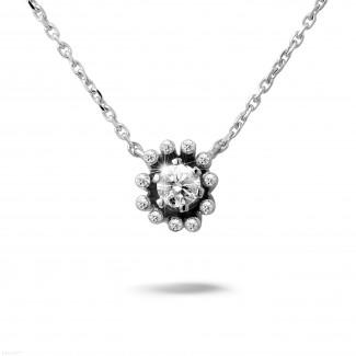 0.25 quilates colgante diamante diseño en oro blanco