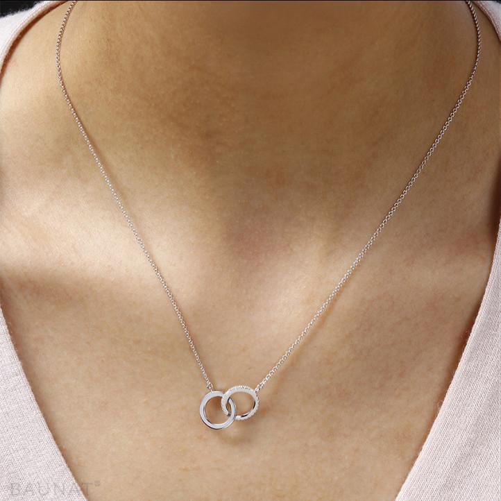 0.20 quilates gargantilla infinito diamante diseño en platino