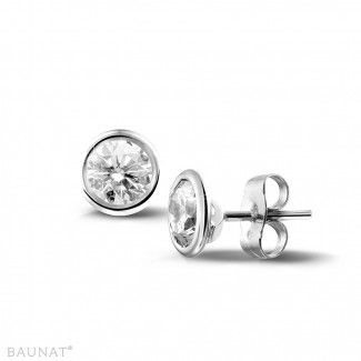 1.00 quilates pendientes diamantes satélite en platino