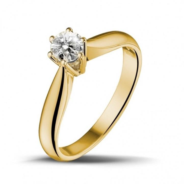 0.30 quilates anillo solitario diamante en oro amarillo