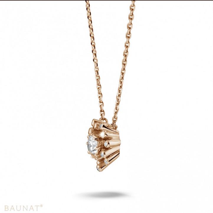 0.75 quilates colgante diamante diseño en oro rojo