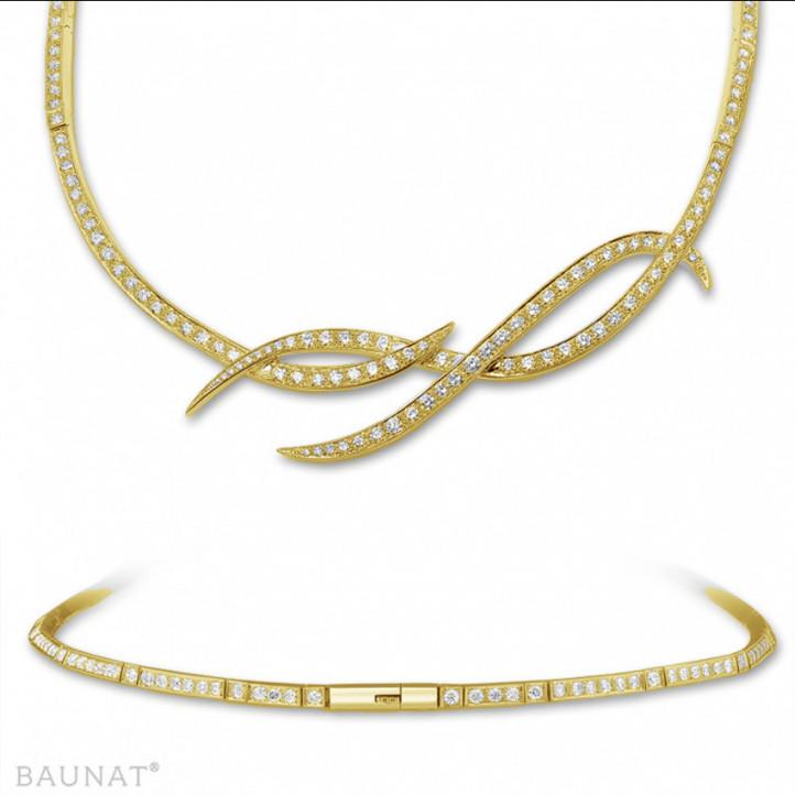 8.60 quilates gargantilla diamante diseño en oro amarillo