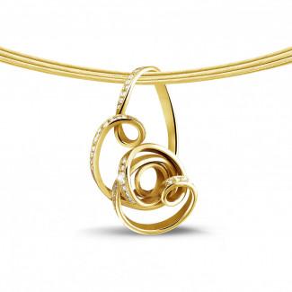 0.80 quilates colgante diamante diseño en oro amarillo