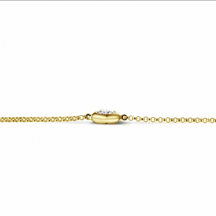 0.30 quilates pulsera diamante satélite en oro amarillo