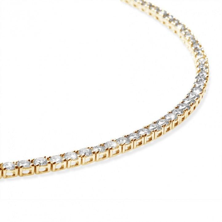 14.60 quilates gargantilla rivièra de diamantes en oro amarillo