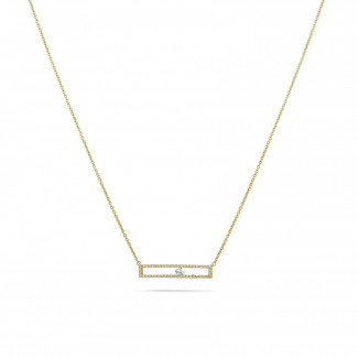 Gargantillas en Oro Amarillo - 0.30 quilates gargantilla en oro amarillo con un diamante redondo flotante