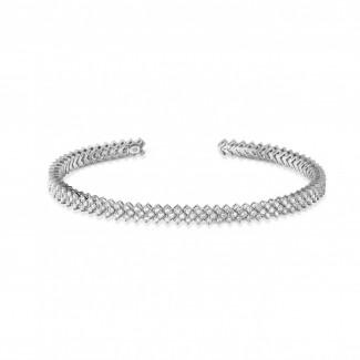 Pulseras - 0.80 quilates pulsera diamante abierta en oro blanco
