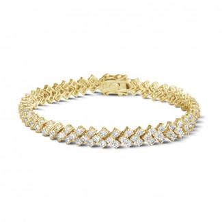 fad8f60c11d0 9.50 quilates pulsera de diamantes en oro amarillo con diseño de espina de  pescado