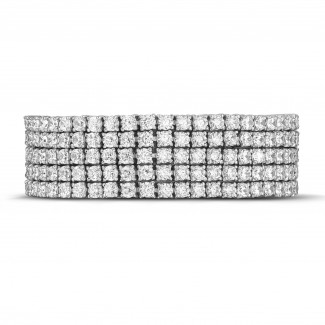 Alta joyería - 25.90 quilates pulsera rivièra ancho de diamantes en oro blanco