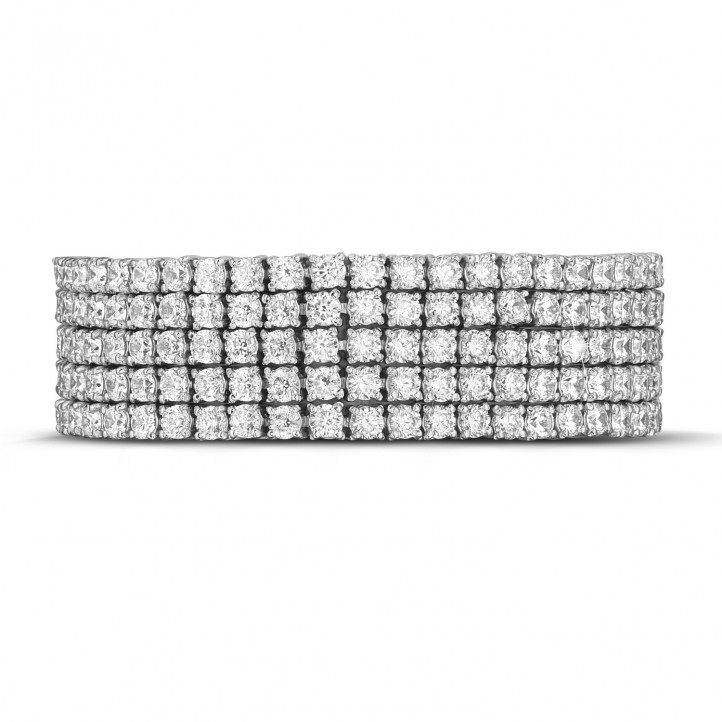 25.90 quilates pulsera rivièra ancho de diamantes en oro blanco