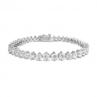 Alta joyería - 7.40 quilates pulsera degradé de diamantes en oro blanco