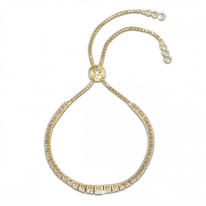 1.50 quilates pulsera degradé de diamantes en oro amarillo