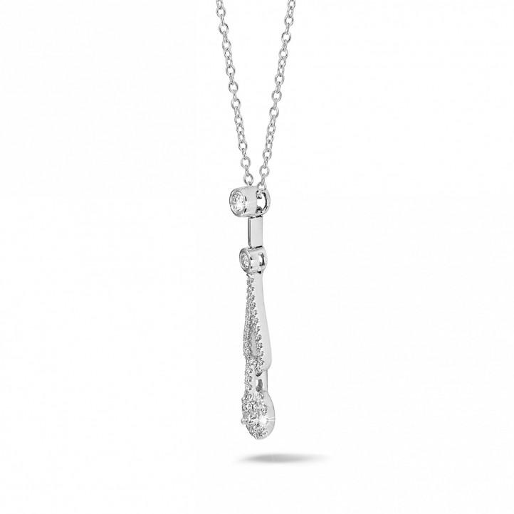 0.50 quilates gargantilla diamante en oro blanco