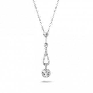 Gargantilla - 0.50 quilates gargantilla diamante en platino