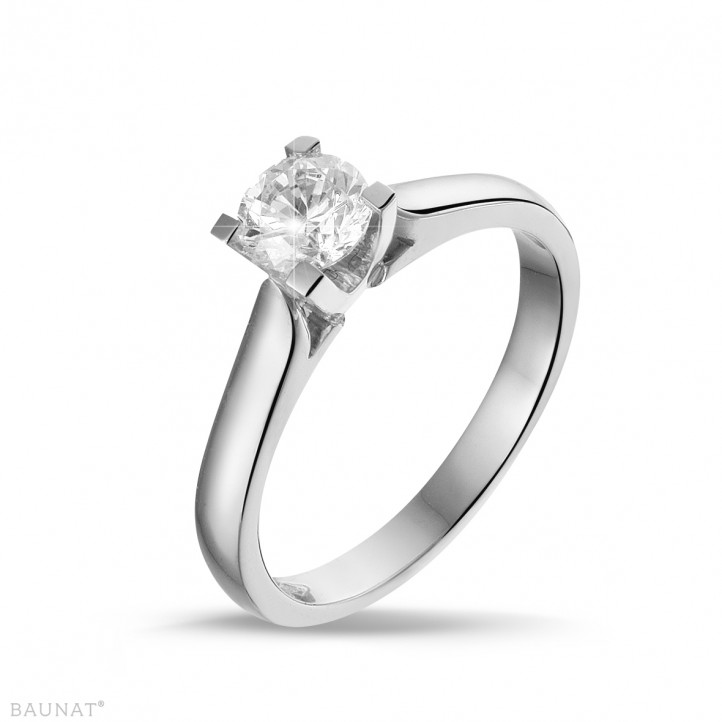 0.50 quilates anillo solitario diamante de oro blanco