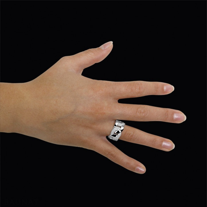 0.60 quilates anillo diamante gourmet en oro blanco