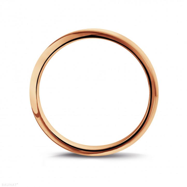 Anillo de boda con superficie esférica de 5.00 mm en oro rojo