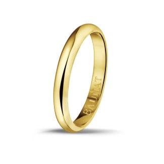 Anillo de boda con superficie esférica de 3.00 mm en oro amarillo