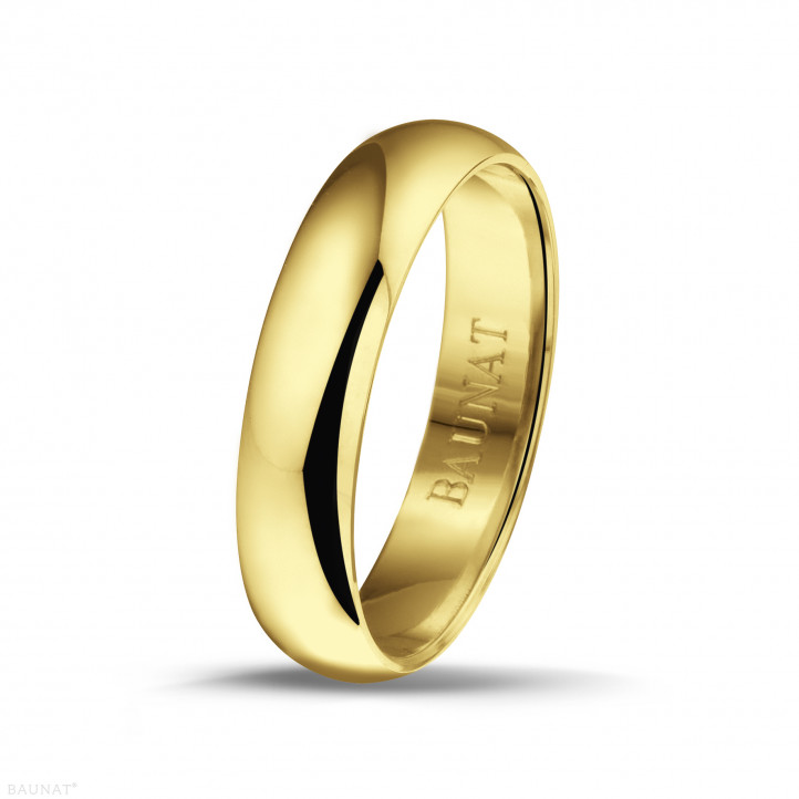Anillo de boda con superficie esférica de 5.00 mm en oro amarillo