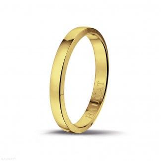 Anillo de boda con superficie esférica ligeramente de 3.00 mm en oro amarillo