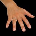 0.26 quilates anillo diamante diseño en oro rojo