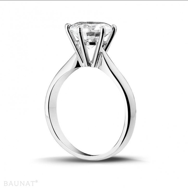 2.50 quilates anillo solitario diamante en platino