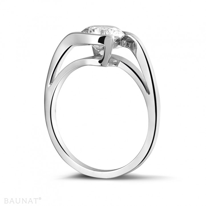 1.25 quilates anillo solitario diamante en platino