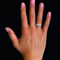 0.75 quilates anillo solitario diamante en platino