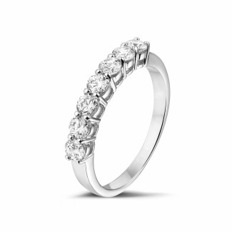 Alliance diamant en or blanc - 0.70 carat alliance en or blanc et diamants