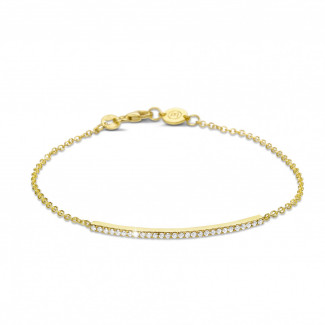 0.25 carat bracelet fin en or jaune avec diamants