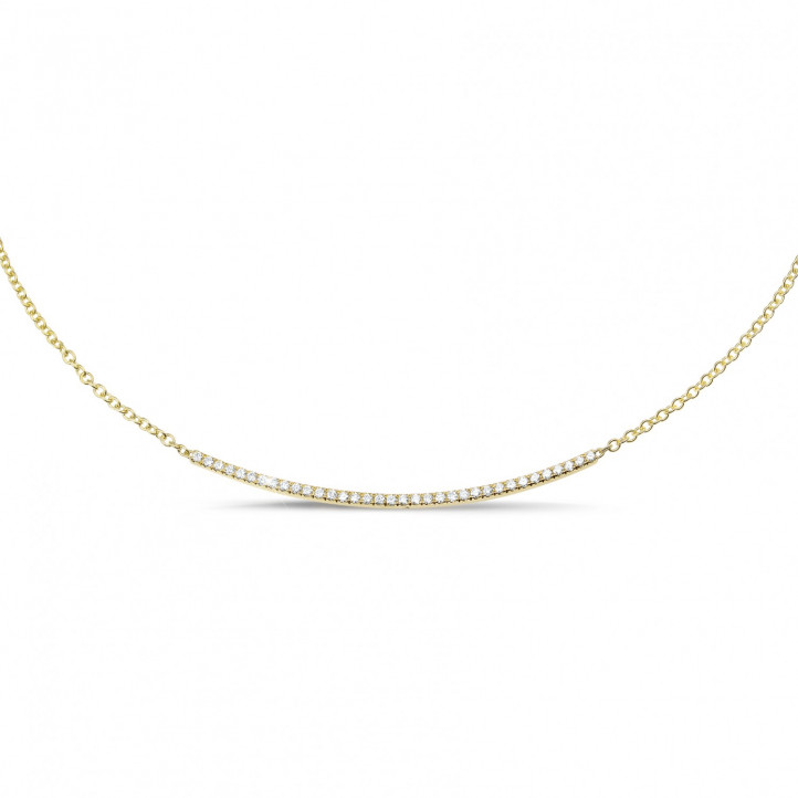 0.30 carat collier fin en or jaune et diamants
