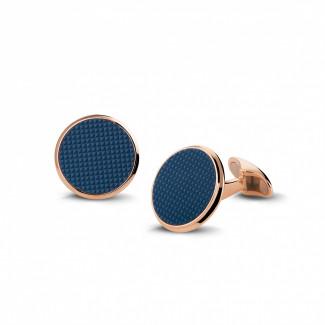 Boutons de Manchette - Boutons de manchette en or rouge avec quartz – clou de Paris