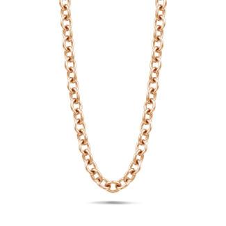 Colliers - Chaîne de collier audacieuse en or rouge