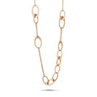 Colliers - Chaîne de collier longue classique en or rouge
